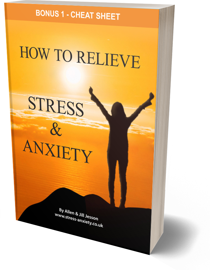 Stress and Anxiety ebook - Bonus 1 Cheat Sheet cover