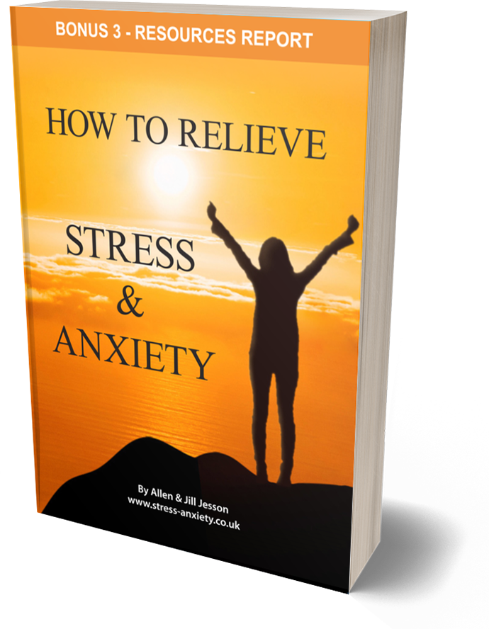 Stress and Anxiety ebook - Bonus 3 Resources Report cover