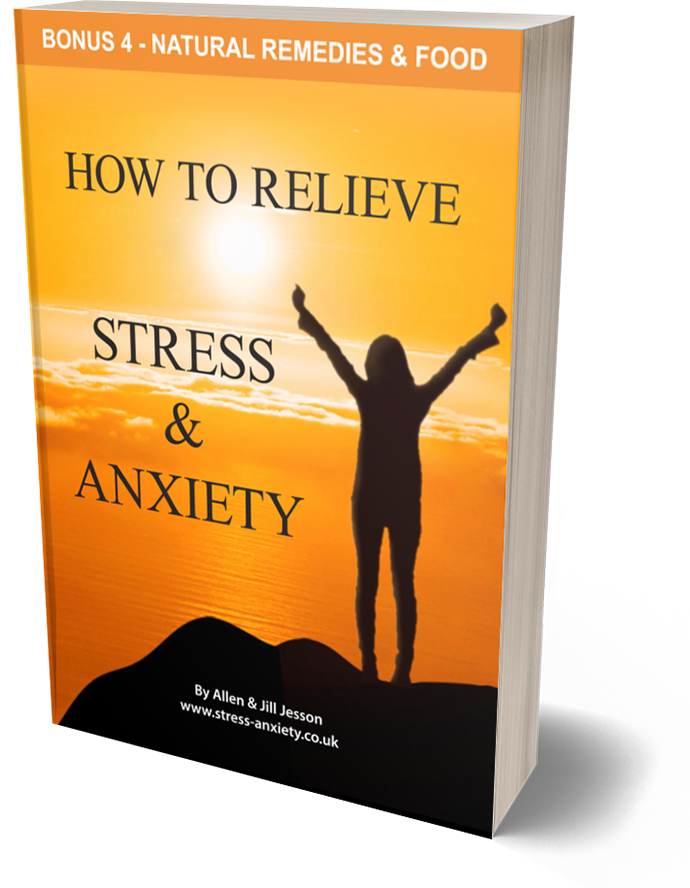 Stress and Anxiety ebook - Bonus 4 Natural Remedies and Food cover
