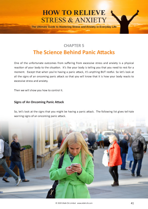 How to Relieve Stress and Anxiety ebook - Sample Chapter 5 page